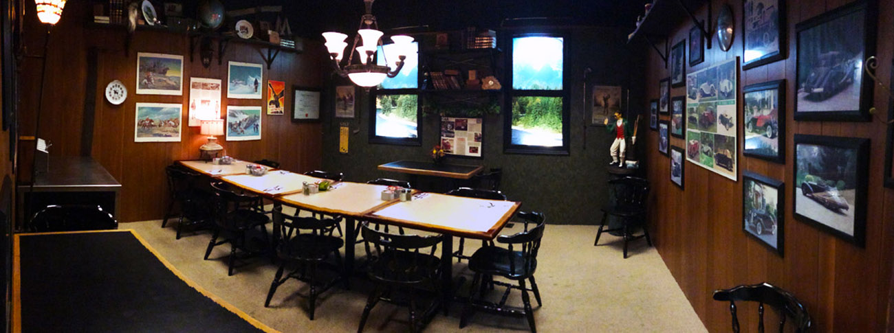 Mountain Room – Ideal for group gatherings of family and friends or small business meetings.